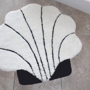 Круглый коврик Chilai Home Shell Ekru 90 см. диаметр