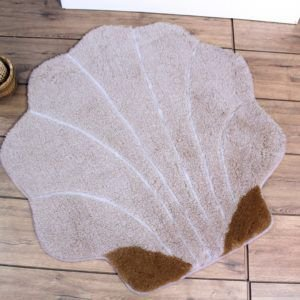 Круглый коврик Chilai Home Shell Kahve 90 см. диаметр