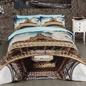 Молодежное постельное белье Сатин 3D First Сhoice Eifil 200×220