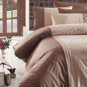 Однотонное постельное белье First Сhoice Dlx 04- Craze-Ekru 200×220