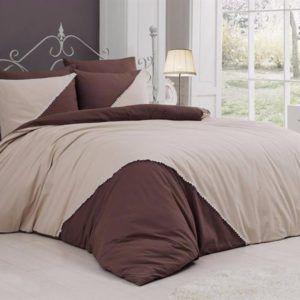 Однотонное постельное белье First Сhoice Jenna Ekru 200×220