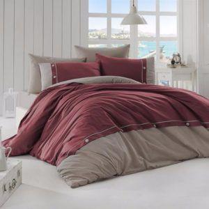 Однотонное постельное белье First Сhoice Raina Bordo 200×220
