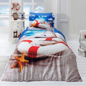 Подростковое постельное белье Сатин 3D First Сhoice Coast 160×220