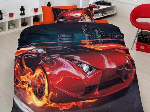 Подростковое постельное белье Сатин 3D First Сhoice Fever 160x220 (m013107) Черный|Красный