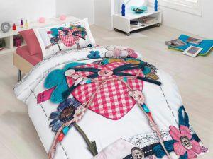 Подростковое постельное белье Сатин 3D First Сhoice Lovable 160x220 (m013437) Розовый
