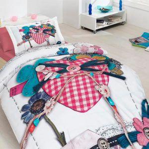 Подростковое постельное белье Сатин 3D First Сhoice Lovable 160×220