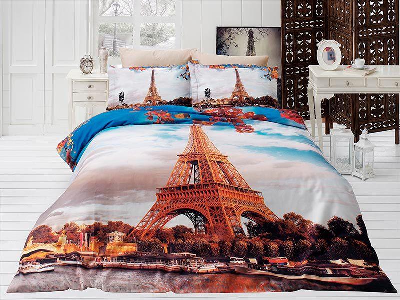 27b2ae2c6a22 Подростковое постельное белье Сатин 3D First Сhoice Paris City 160×220