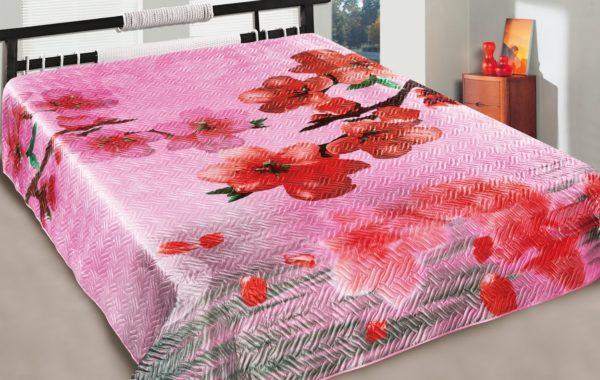 Покрывало искуственный шелк 3D Love You Marianna радость  (m011759) Розовый