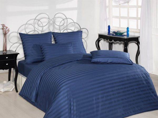 Постельное Белье Жаккард Altinbasak Lacivert  (m013587) Синий