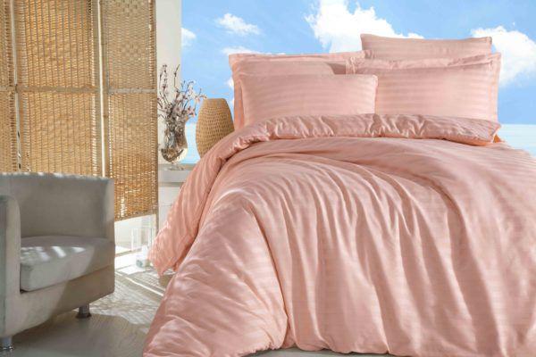 Постельное Белье Жаккард Altinbasak Somon  (m013592) Розовый