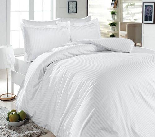 Постельное Белье First Сhoice Жаккард S-053 White 200x220 (m000241) Белый