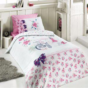 Постельное белье Ранфорс First Сhoice Clara 160x220 (m012627) Розовый