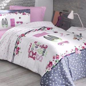 Постельное белье Ранфорс First Сhoice Jewels 160x220 (m012634) Розовый