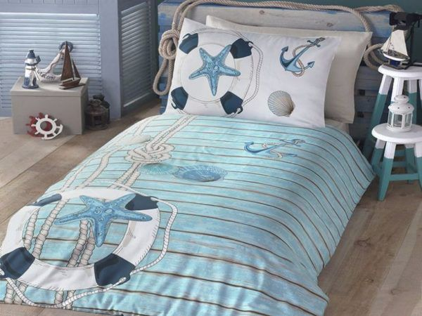 Постельное белье Ранфорс First Сhoice Sea 160x220 (m012636) Голубой