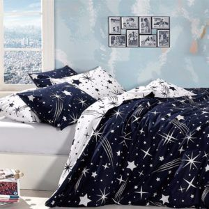 Постельное белье Ранфорс First Сhoice Star 160x220 (m012951) Синий