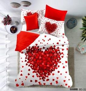 Постельное белье Сатин 3D Love You венера 200x220 (m013529) Красный Белый