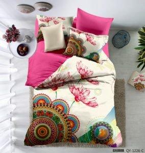 Постельное белье Сатин 3D Love You джаз 200x220 (m013531) Розовый