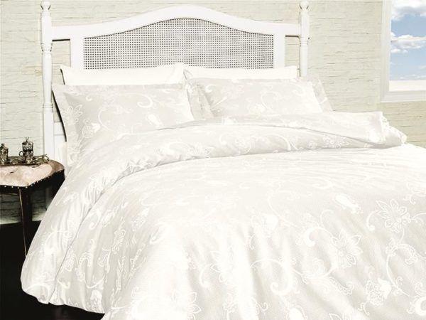 Постельное белье Сатин First Сhoice Carmina Beyaz 200x220 (m014118) Белый