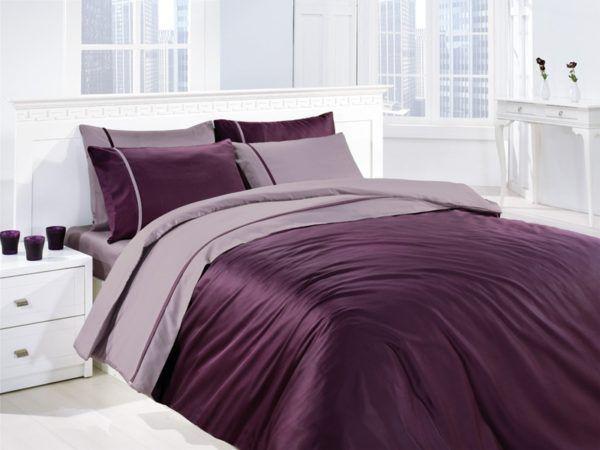 Постельное белье Сатин First Сhoice S-038 Mor Lila 200x220 (m006056) Фиолетовый