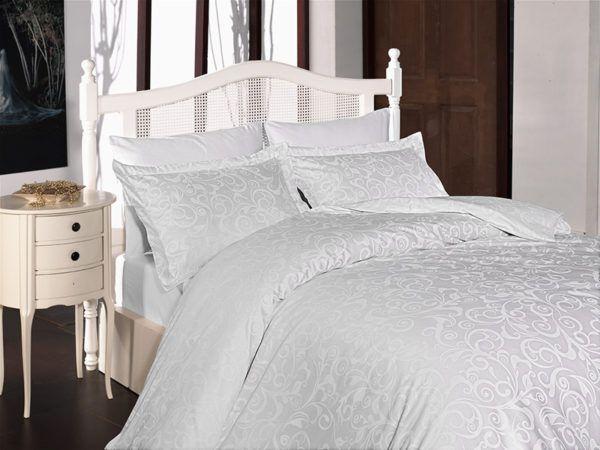 Постельное белье Сатин First Сhoice Sweta Beyaz 200x220 (m010978) Белый
