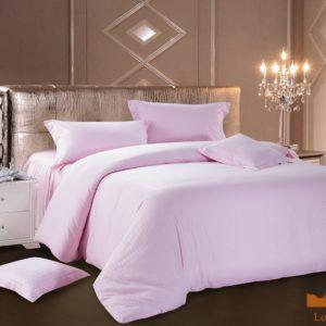 Постельное белье Сатин Love You розовый 200x220 (m011462) Сиреневый