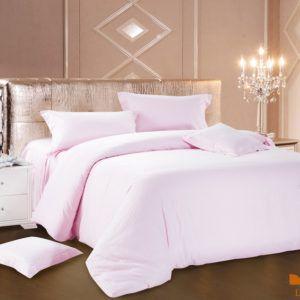 Постельное белье Сатин Love You светло-розовый 200x220 (m011464) Розовый