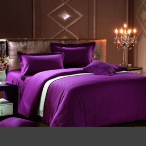 Постельное белье Сатин Love You темно-фиолетовый  (m011501) Фиолетовый