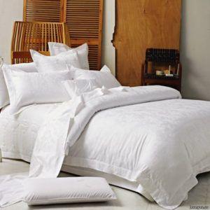 Постельное белье с вышивкой Love You Жаккард 1-24.  (m009525) Белый