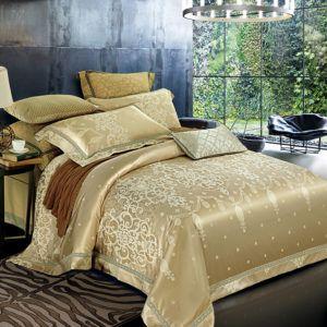 Постельное белье с вышивкой Love You Жаккард 1-29. 200x220 (m013922) Золотой