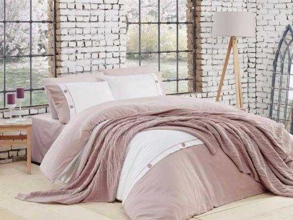 Постельное белье с пледом First Сhoice Nirvana Raina Gulkurusu 200x220 (m013640) Розовый