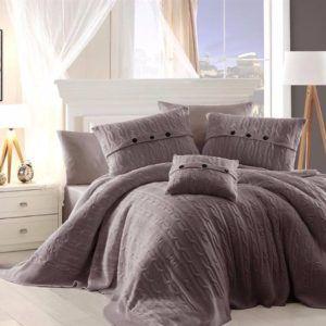 Постельное белье с покрывалом First Сhoice Nirvana Excellent Vizon 200x220 (m013663) Серый