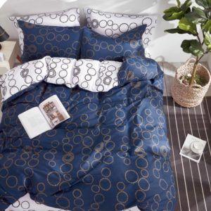 Постельное белье Love You Сатин tl 180605  (m014249) Синий
