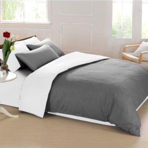 Постельное белье Love You двустороннее 20 бело-серый 200x220 (m014196) Серый