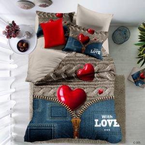 Постельное белье Love You двустороннее qy 1053 200×220