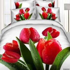 Постельное белье Love you Сатин 3D блеск
