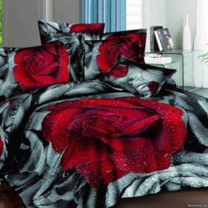 Постельное белье Love you Сатин 3D дикая роза