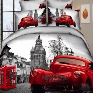 Постельное белье Love you Сатин 3D лондон 160×220 (2 шт)