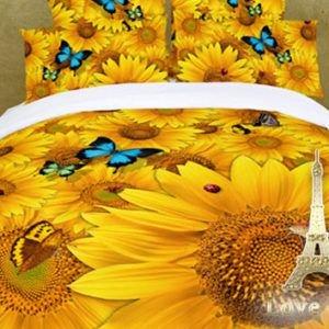 Постельное белье Love you Сатин 3D солнце 200×220