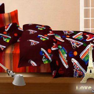 Постельное белье Love you Сатин 3D ходики 200x220 (m005478) Черный