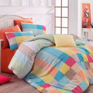 Постельное белье Majoli Karo v3 Orange 200×220