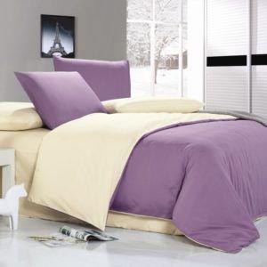 Постельное белье Valtery MO-18 200x220 (CB01008294) Фиолетовый|Кремовый