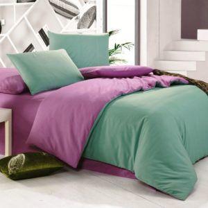 Постельное белье Valtery MO-20 200x220 (CB010082117) Фиолетовый|Зеленый