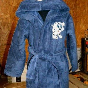 Детский халат Nusa серо-синий m011092
