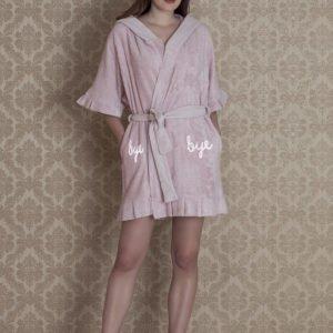 Женский халат Hays 17136 gulkurusu pembe m013685 S/M (m013685) Розовый