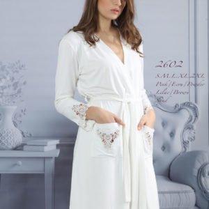 Женский халат Mariposa 2602 ekru m013038  (m013038) Белый