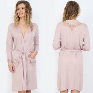 Женский халат Mariposa 2602 pink m013040