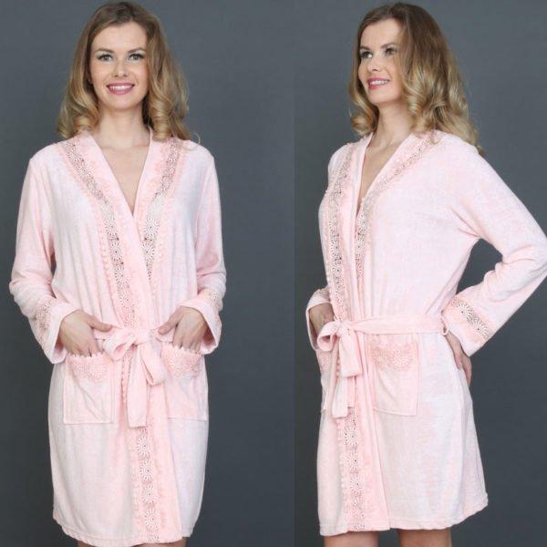 Женский халат Mariposa 2605 somon m013606  (m013606) Розовый