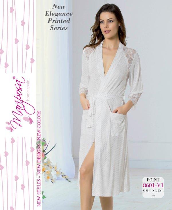 Женский халат Mariposa 8601 ekru m013750  (m013750) Белый