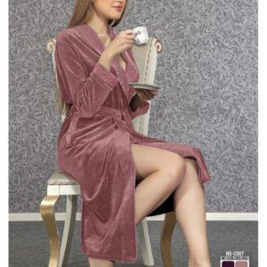 Женский халат Nusa ns 0307 сиреневый m013613