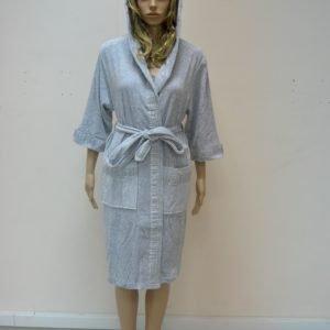 Женский халат Nusa ns 8295 серый m008693